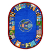 Joy Carpets Symbols of America 10-ft 9-in x 7-ft 8-in Oval Multicolor Holiday Area Rug