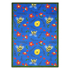 Joy Carpets Bee Attitudes 5-ft 4-in x 3-ft 10-in Rectangular Multicolor Holiday Area Rug