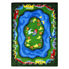 Joy Carpets Puddle Ducks 11-ft 2-in x 10-ft 9-in Rectangular Multicolor Holiday Area Rug