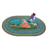 Joy Carpets Mary's Lamb 5-ft 4-in x 3-ft 10-in Oval Multicolor Holiday Area Rug