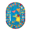 Joy Carpets Hands Around The World 13-ft 2-in x 13-ft 2-in Round Multicolor Educational Area Rug