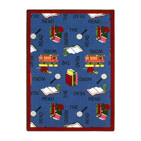 Joy Carpets Read The Word 11-ft 2-in x 10-ft 9-in Rectangular Multicolor Educational Area Rug