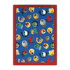 Joy Carpets Children of the World 5-ft 4-in x 3-ft 10-in Rectangular Multicolor Holiday Area Rug