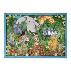 Joy Carpets Wild About Books 11-ft 2-in x 10-ft 9-in Rectangular Multicolor Nature Area Rug