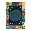 Joy Carpets In The Beginning 5-ft 4-in x 3-ft 10-in Rectangular Multicolor Religious Area Rug
