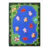 Joy Carpets Fishin' Fun 5-ft 4-in x 46-in Oval Multicolor Holiday Area Rug