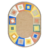 Joy Carpets Off Balance 7-ft 7-in x 7-ft 7-in Round Multicolor Geometric Area Rug
