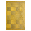 Joy Carpets Diamond Plate 7-ft 8-in x 5-ft 4-in Rectangular Yellow Solid Area Rug