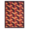 Joy Carpets Rooftop 13-ft 2-in x 10-ft 9-in Rectangular Multicolor Block Area Rug
