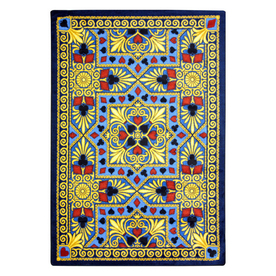 Joy Carpets Jackpot 13-ft 2-in x 10-ft 9-in Rectangular Multicolor Transitional Area Rug