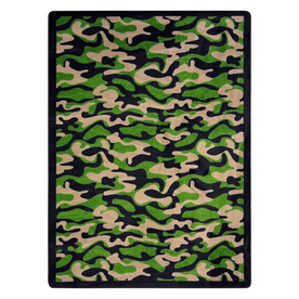 Joy Carpets Funky Camo 5-ft 4-in x 3-ft 10-in Rectangular Multicolor Transitional Area Rug