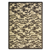 Joy Carpets Funky Camo 7-ft 8-in x 5-ft 4-in Rectangular Multicolor Transitional Area Rug
