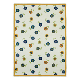 Joy Carpets Awesome Blossom 7-ft 7-in x 7-ft 7-in Round Multicolor Floral Area Rug