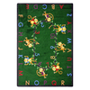 Joy Carpets Monkey Business 10-ft 9-in x 7-ft 8-in Rectangular Multicolor Holiday Area Rug