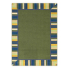 Joy Carpets Clean Green 10-ft 9-in x 7-ft 8-in Rectangular Multicolor Border Area Rug