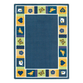 Joy Carpets Baby Blues 7-ft 8-in x 5-ft 4-in Rectangular Multicolor Border Area Rug
