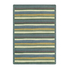 Joy Carpets Yipes Stripes 5-ft 4-in x 3-ft 10-in Oval Multicolor Geometric Area Rug