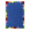 Joy Carpets Rainbow Alphabet 10-ft 9-in x 7-ft 8-in Rectangular Multicolor Holiday Area Rug