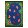 Joy Carpets Fishers Of Men 5-ft 4-in x 3-ft 10-in Rectangular Multicolor Religious Area Rug