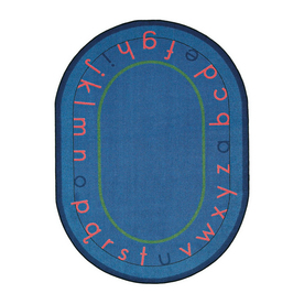 Joy Carpets Montessori Alphabet 7-ft 8-in x 5-ft 4-in Oval Multicolor Educational Area Rug
