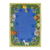 Joy Carpets Jungle Friends 10-ft 9-in x 7-ft 8-in Rectangular Multicolor Holiday Area Rug