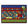 Joy Carpets Keyboard Connection 11-ft 2-in x 10-ft 9-in Rectangular Multicolor Educational Area Rug