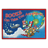 Joy Carpets Books Can Take You Anywhere 10-ft 9-in x 7-ft 8-in Oval Multicolor Holiday Area Rug