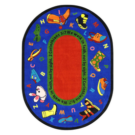 Joy Carpets Walk In Faith 7-ft 7-in x 7-ft 7-in Round Multicolor Religious Area Rug
