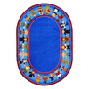 Joy Carpets Children of Many Cultures 13-ft 2-in x 13-ft 2-in Round Multicolor Holiday Area Rug