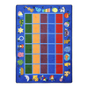Joy Carpets Alphabet Phonics 11-ft 2-in x 10-ft 9-in Rectangular Multicolor Holiday Area Rug