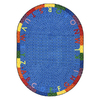 Joy Carpets Alphabet Braid 13-ft 2-in x 13-ft 2-in Round Multicolor Holiday Area Rug