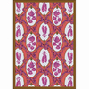 Joy Carpets Ribbons and Bows 7-ft 8-in x 5-ft 4-in Rectangular Multicolor Transitional Area Rug