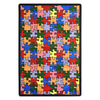 Joy Carpets Puzzled 5-ft 4-in x 3-ft 10-in Rectangular Multicolor Holiday Area Rug