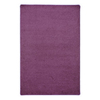 Joy Carpets Endurance 6-ft x 6-ft Square Purple Solid Area Rug