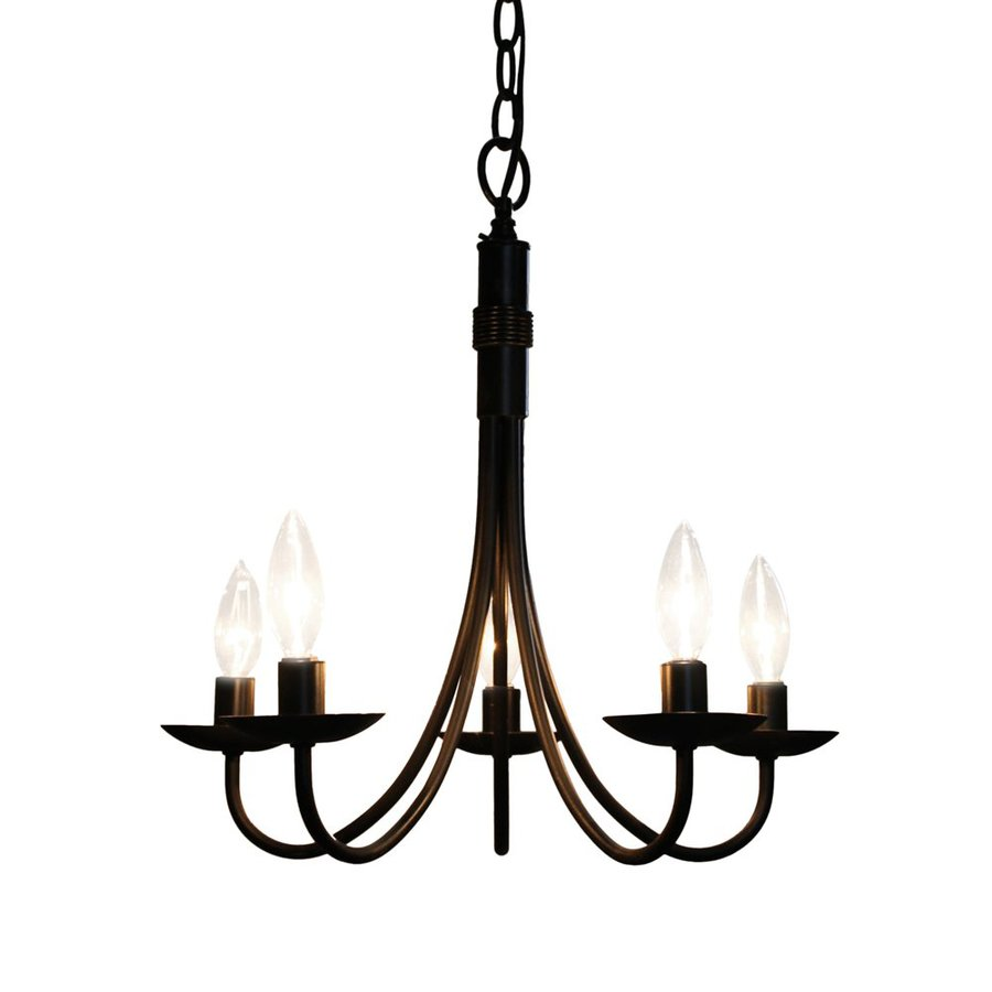 shop artcraft lighting pot racks 5 light black chandelier at