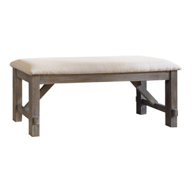 Powell Cafe Grey Oak Stain 60-in Dining Bench