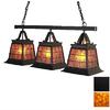 Steel Partners Topridge 11-in W 3-Light Black Kitchen Island Light with Shade
