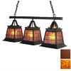 Steel Partners Topridge 11-in W 3-Light Rust Kitchen Island Light with Shade