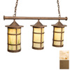 Steel Partners Pasadena 9-in W 3-Light Architectural Bronze Kitchen Island Light with Shade