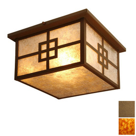 Steel Partners 14-in W Architectural Bronze Ceiling Flush Mount