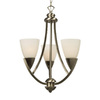 Galaxy 3-Light Amalie Brushed Nickel Chandelier