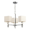 Galaxy 3-Light Ashton Chrome Art Glass Chandelier