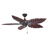 Volume International 52-in Vintage Bronze Outdoor Ceiling Fan