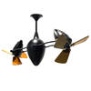 Matthews Ar Ruthiane 16-in Black Downrod Mount Indoor Ceiling Fan (6-Blade)