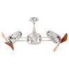 Matthews Duplo Dinamico 12-in Chrome Indoor Downrod Mount Ceiling Fan Adaptable