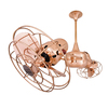 Matthews Duplo Dinamico 13-in Polished Copper Indoor Downrod Mount Ceiling Fan Adaptable