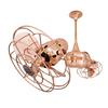 Matthews Duplo Dinamico 13-in Polished Copper Downrod Mount Ceiling Fan