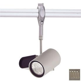 nora lighting brushed nickel roundback led linear track lighting head. Black Bedroom Furniture Sets. Home Design Ideas