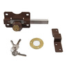 Gatemate Nickel Double-Cylinder Rim Lock
