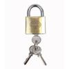 Gatemate Brass Regular Shackle Keyed Padlock